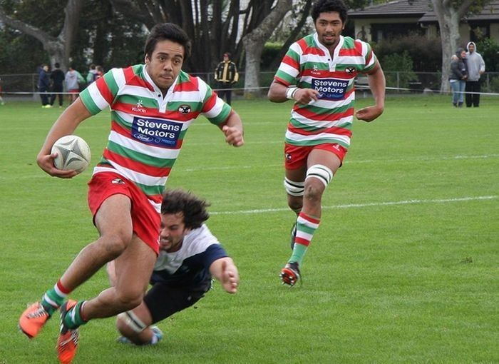 Chase Tiatia enjoying his rugby with Bay of Plenty